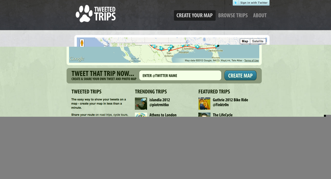 Track your trip using Twitter