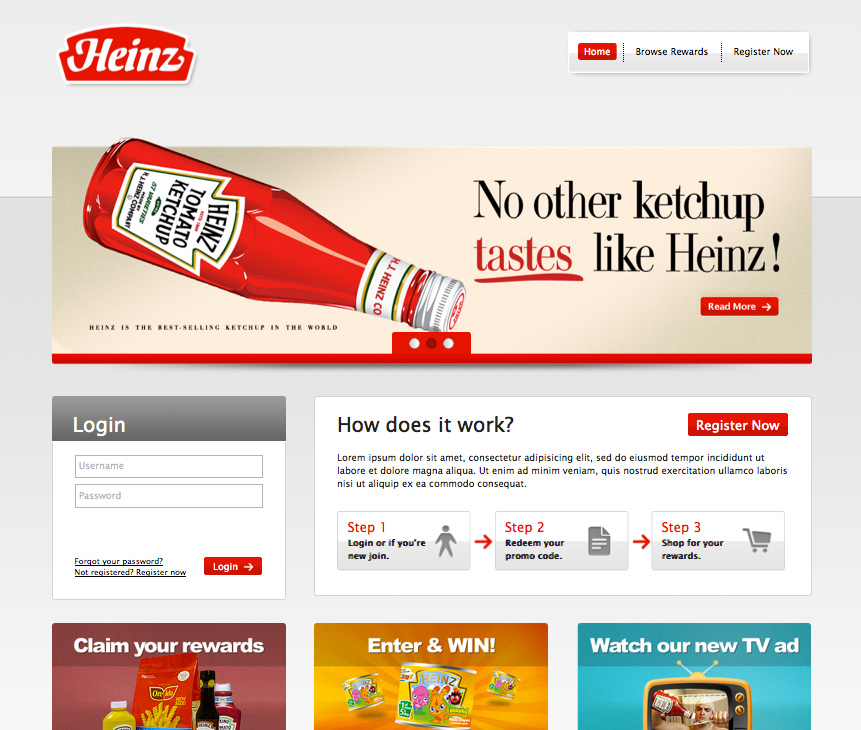 Responsive Design Home Page