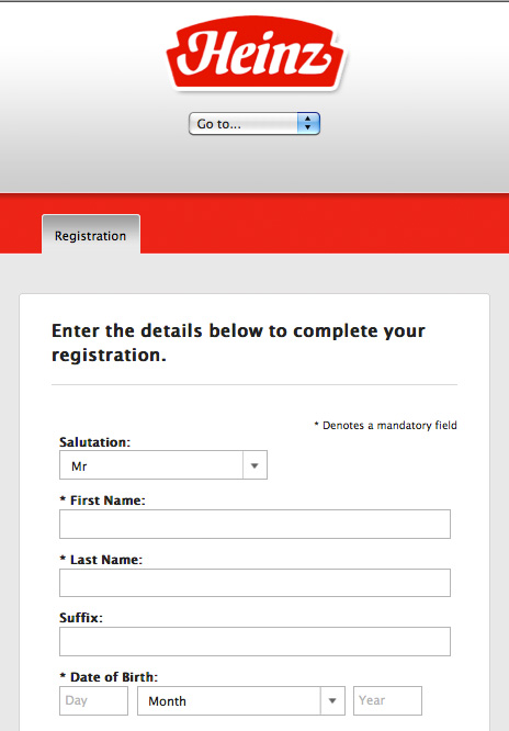 Registration - Mobile View