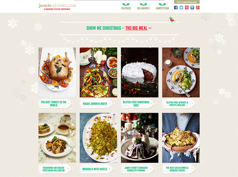 Aggregated recipes page