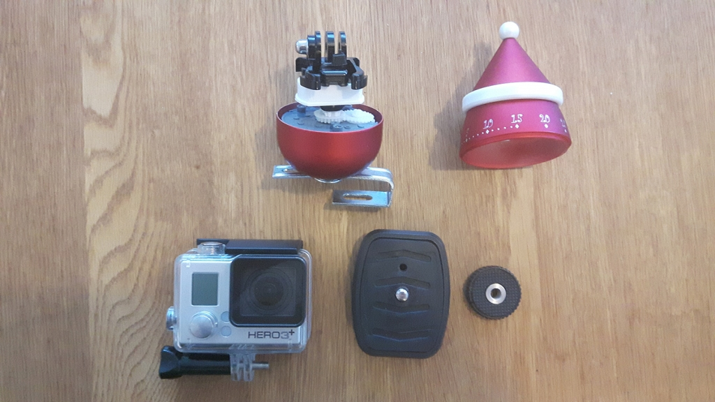 GoPro hack – create a cheap pan-lapse rig