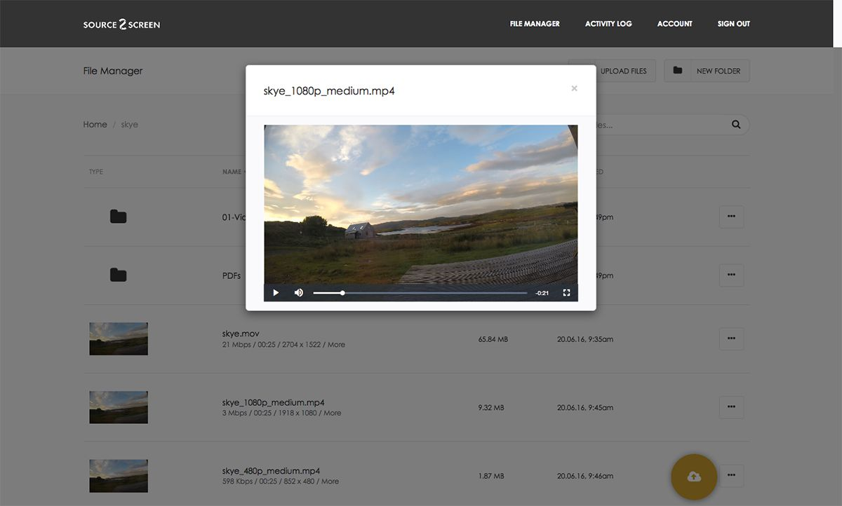 Embedded HTML video playback