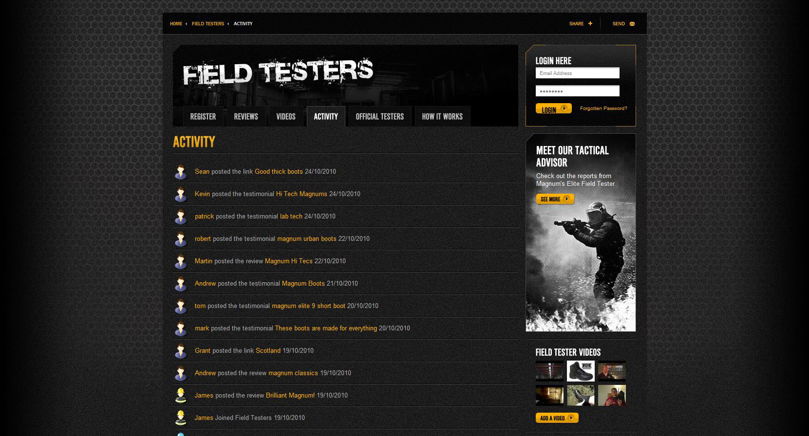 The return of Field Testers