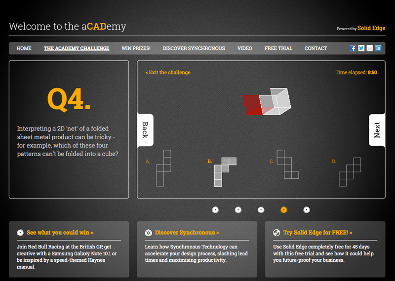 3D folding cube animation with CSS3