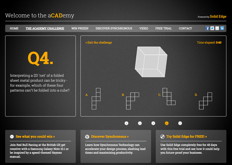 3D rotating cube with CSS3